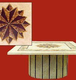 piano in travertino con inserti in broccatello giallo e rosso antico