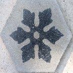 cementina di recupero esagonale decorata ce 153