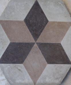 cementina di recupero esagonale decorata ce 154