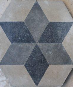 cementina di recupero esagonale decorata ce 155