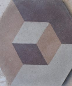 cementina di recupero esagonale decorata ce 156