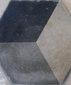 cementina di recupero esagonale decorata ce 158
