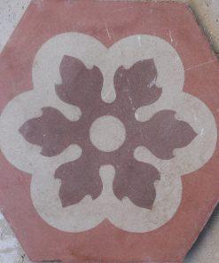 cementina di recupero esagonale decorata ce 159