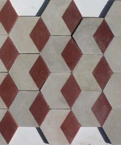 cementina di recupero esagonale decorata ce 172