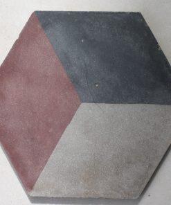 cementina di recupero esagonale decorata ce 173