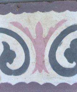 greca cementina di recupero decorata cg 13