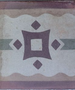 greca cementina di recupero decorata cg 14