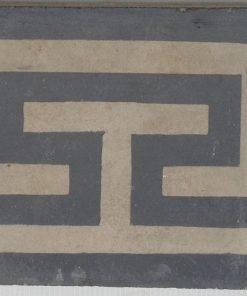 greca cementina di recupero decorata cg 16