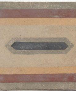 greca cementina di recupero decorata cg 19