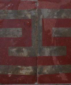 greca cementina di recupero decorata cg 32