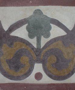 greca cementina di recupero decorata cg 35