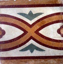 greca cementina di recupero decorata cg 36
