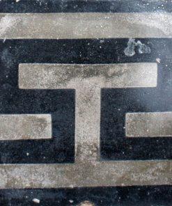 greca cementina di recupero decorata cg 38