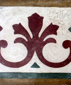greca cementina di recupero decorata cg 42