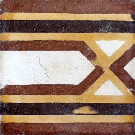 greca cementina di recupero decorata cg 45