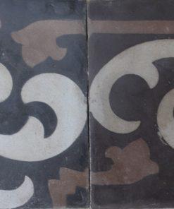 greca cementina di recupero decorata cg9