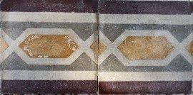 greca cementina di recupero decorata cg 34