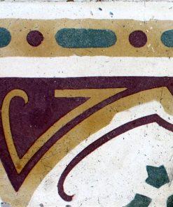 greca cementina di recupero decorata cg 51