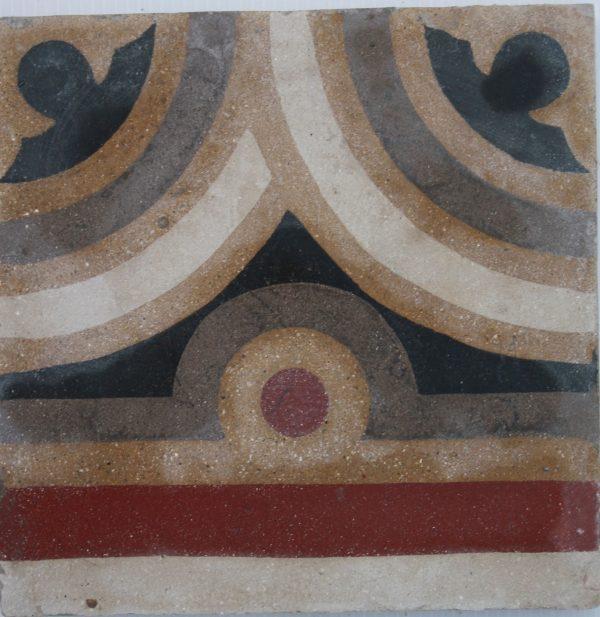 greca cementina di recupero decorata cg 56