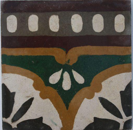 greca cementina di recupero decorata cg 57