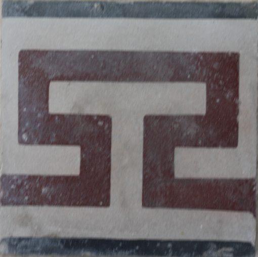 greca cementina di recupero decorata cg 58