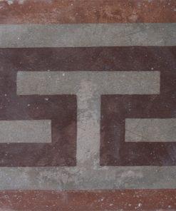 greca cementina di recupero decorata cg 59
