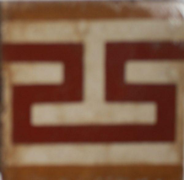 greca cementina di recupero decorata cg 61